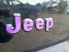 My new Jeep decals....purple of course ;-)