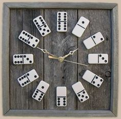 An up-cycled domino clock. Good idea for a side room or kitchen.  Via: trendhunter.com
