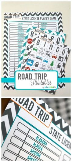 Road Trip Games for Kids - Free Printables | Keep the kids entertained on vacation with these fun travel games. Designed by http://UrbanBlissLife.com | http://TodaysCreativeLife.com