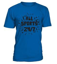 All Sports 24 7 Basketball Soccer Football Hockey Baseball Star T Shirt   Teezily   Buy, Create & Sell T-shirts to turn your ideas into reality