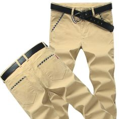 Men Stretch Cotton Jeans Soft Chino Pants Casual Dress Trousers