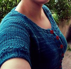 Miette by Andi Satterlund. malabrigo Rios, Teal Feather colorway.