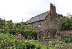 Stable building and vegetable garden: Fenton house