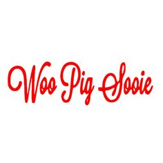 This Woo Pig Sooie vinyl decal is the perfect way to show your support for the University of Arkansas Razorbacks.  It is made from permanent