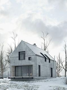Visualizations of single-family home located in Pilchowo near Szczecin, Poland