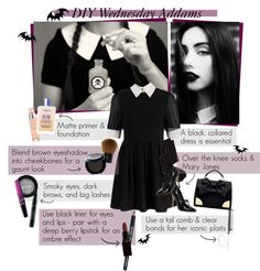 """""""DIY - Wednesday Addams Halloween Costume"""" by elsabear ❤ liked on Polyvore"""