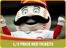 Book your hotel stay through CincinnatiUSA.com and get half price tickets for Reds home games!