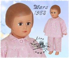 ATELIER ARIANNE: Vêtement pour poupée Modes et Travaux Marie Françoise ou Françoise Mars 1953