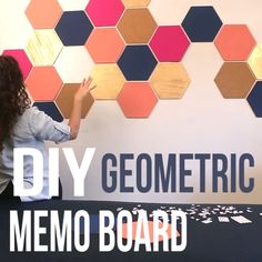 DIY Geometric Memo Board…  DIY Geometric Memo Board  http://www.coolhomedecordesigns.us/2017/05/19/diy-geometric-memo-board/