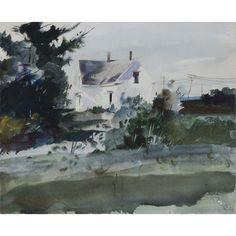 Andrew Wyeth, Tamarack House, Maine, 1941