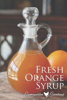 This Orange Syrup is simple to make and the flavor of the fresh oranges is simply irresistible! Great for pancakes, waffles or desserts. Orange Recipes Easy, Sweet Recipes, Brunch Recipes, Ricotta Pancakes, Pancakes And Waffles, Sugar Free Fruits, How To Make Orange, Waffle Maker Recipes, Orange Syrup