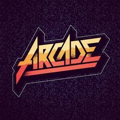 Arcade type piece by kameo 80s Logo, Retro Logos, Typography Inspiration, Typography Design, Retro Typography, Typographie Logo, 80s Design, Design Art, Game Logo Design