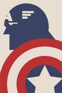 Captain America, by Brandon Schaefer from his tumblr