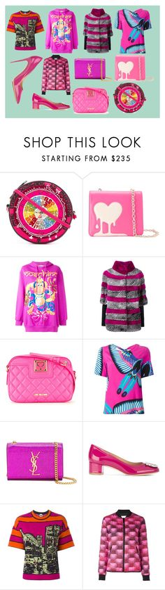 """""""pijk style"""" by monica022 ❤ liked on Polyvore featuring Olympia Le-Tan, Love Moschino, Moschino, Liska, P.A.R.O.S.H., Yves Saint Laurent, Salvatore Ferragamo, M Missoni, Kenzo and vintage"""