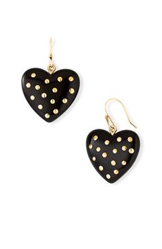 Marc by Marc Jacobs House of Cards Studded Heart Earrings.. on sale!