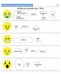 Apostila de Moldes de Emoticons  - Ver e Fazer