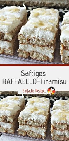 Saftiges RAFFAELLO-Tiramisu Ingredients 400 biscuits 250 ml coconut milk 4 elrum 4 pcs. Egg yolk 120 g sugar 500 gmascarpone 100 grated coconut almond leaves and grated coconut to decorate Berry Smoothie Recipe, Easy Smoothie Recipes, Easy Smoothies, Homemade Frappuccino, Cake Recipes, Dessert Recipes, Grilled Fruit, Cake Ingredients, Fall Desserts