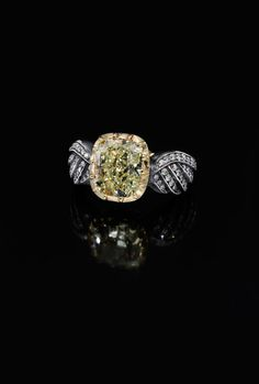 Yellow Diamond version of our most sought after Wing of Desire Ring from Jessica McCormack.