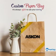 It's always stylish to use your own bag! #bags #paperbag #fashion #Trending #wholesale #PROMOTION #marketing #Giveaways #branding #giftideas #printed #gifts #advertising #shopping #paperbags Custom Paper Bags, Promotion Marketing, Print On Paper Bags, Promotional Bags, Picnic Bag, Wholesale Bags, Luggage Bags, Giveaways, Advertising