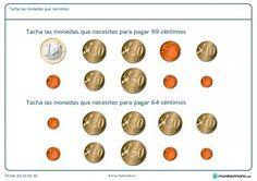 Ficha de qué monedas hacen falta para Primaria