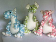 Large Stuffed Dragon | Mythfit Large Spotty Dot Dragon Plush by MythfitCreations on Etsy