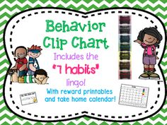 This colorful clip chart is a great way to positively promote and manage…