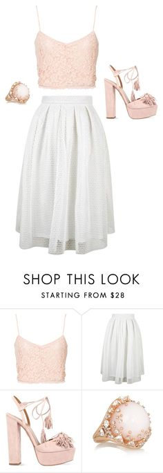 """""""Untitled #255"""" by kenzie-raye13 on Polyvore featuring NLY Trend, Topshop, Aquazzura, Fernando Jorge, Pink and pastels"""