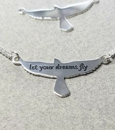 Let Your Dreams Fly Bird Pendant Sterling Silver Necklace Birthday Gifts For Best Friend, Best Friend Gifts, Necklace Price, Necklace Lengths, Horse Necklace, Never Too Late, Personalized Necklace, Sterling Silver Bracelets, Beautiful Necklaces