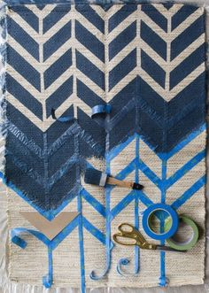 Crafts Tutorials If you're decorating on a budget, this article is a must-read. We'll show you how to paint a rug and provide you with tips on how to do so to achieve a high-end look. Creating a DIY painted rug can completely change the feel of a room. Fabric Painting, Diy Painting, Painting Walls, Painting Canvas, Painted Rug, Painted Furniture, Furniture Ideas, Painted Floor Cloths, Ikea Furniture Makeover