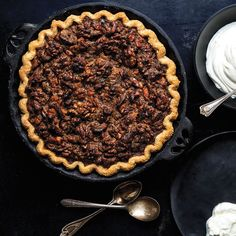 Brown Butter Walnut Pie with Sour Whipped Cream | SAVEUR