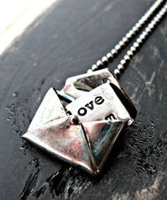 Hand Stamped Sterling Silver Necklace  by yourcharmedlife on Etsy, $75.00