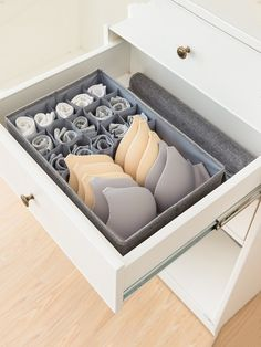 16 Grid Underwear Storage BoxFor Women-romwe - 16 Grid Underwear Storage BoxFor Women-romwe Source by caminsky - Dresser Drawer Organization, Wardrobe Organisation, Room Organization, Underwear Storage, Underwear Organization, The Home Edit, Hanging Closet, Konmari, Home Trends
