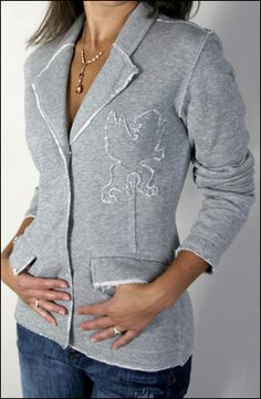 refashion inspiration : sweatshirt jacket