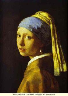 Jan Vermeer. Girl with a Pearl Earring. Olga's Gallery.