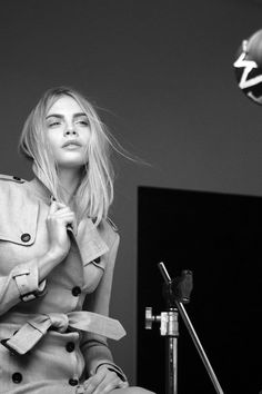 Cara Delevingne Backstage At Burberry Fashion Photography