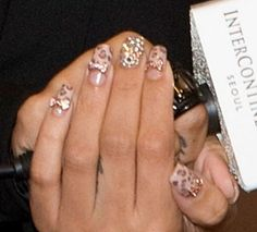 Studded Bling nails and leopard