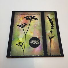 Craft Room Delights by Samantha Wade: CAS with Tim Holtz Wildflowers dies.