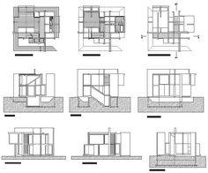 house VI eisenman drawings - Pesquisa Google