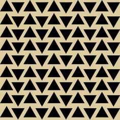 Aztec Triangles Pattern Reusable Stencil - for fabric, wood, paper,... ($15) ❤ liked on Polyvore