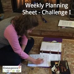 Weekly Planning for Challenge I - Classical Conversations