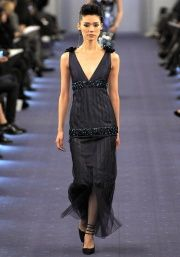 Chanel Spring 2012. Black, blue and bling.