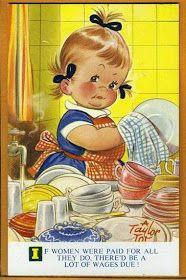 Postcard Comic Bamforth Taylor Tots Series No K 210 Retro Kids, Vintage Greeting Cards, Vintage Postcards, Vintage Pictures, Vintage Images, Motif Vintage, Vintage Drawing, Children's Book Illustration, Vintage Children