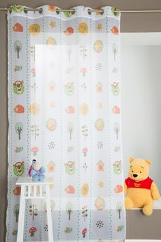 Nice Gardine f r das Kinderzimmer Winnie The Pooh X Gr n