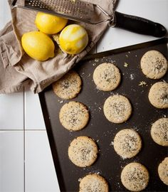 Lemon & poppy seed biscuits | Karen Martini