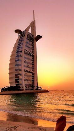 A 7 star architectural feat against the Crimson horizon, Burj Al Arab, Dubai Dubai City, Dubai Hotel, Dubai Uae, Burj Al Arab, Interior Design Dubai, Interior Design Images, Luxury Interior, Interior Ideas, Contemporary Interior