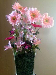 Pink Spring flowers $50
