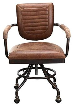 leather antique wood office chair leather antique. Moes Home Foster Desk Chair · Leather ChairsMetal ChairsVintage Leather Antique Wood Office Chair R