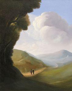 Ubaldo Bartolini (Italian, born Meeting, 2005 Oil on canvas, 50 x 40 cm Walking Paths, Look At The Sky, Pathways, Oil On Canvas, Water, Painting, Art, Gripe Water, Art Background