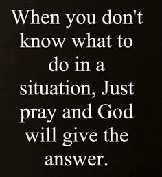 God provides the answer