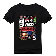 DIYtshirt Musical Wicked T-Shirt, Custom Men's Classic 100% Cotton T-Shirt with Musical Wicked (X-Large) DIYtshirt